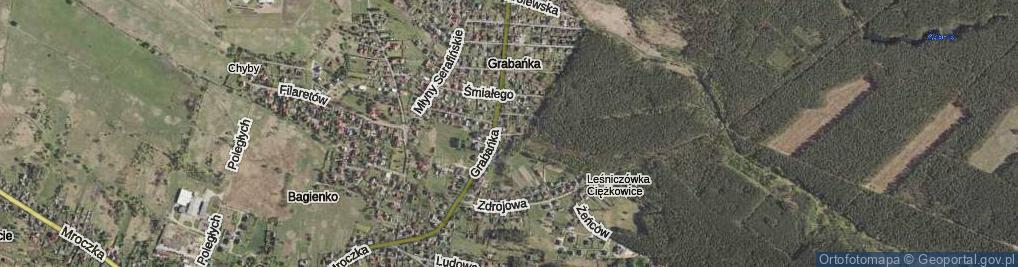 Zdjęcie satelitarne Bolesława Krzywoustego ul.