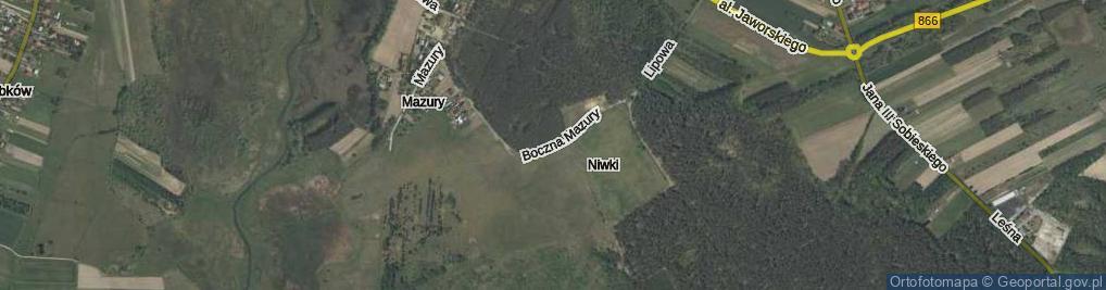 Zdjęcie satelitarne Boczna Mazury ul.