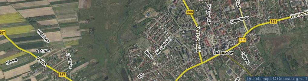 Zdjęcie satelitarne Bohaterów Września 1939 ul.
