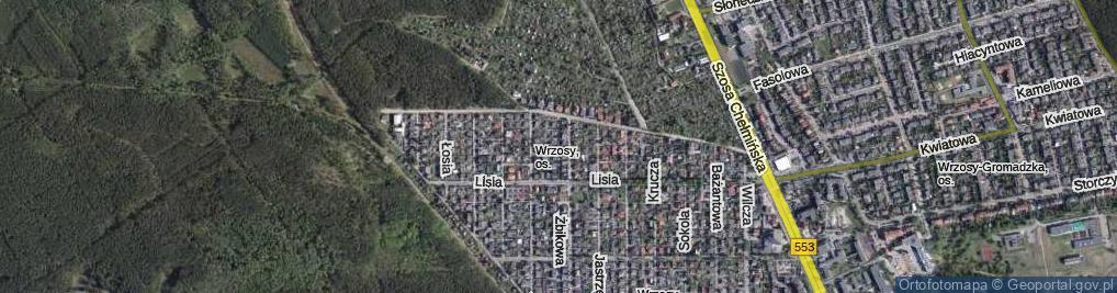 Zdjęcie satelitarne Bobrowa ul.