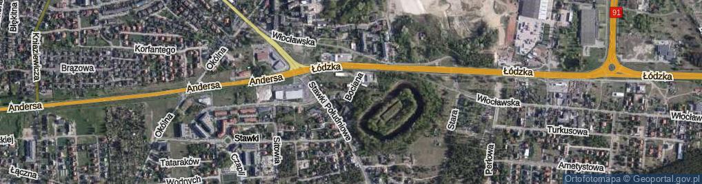 Zdjęcie satelitarne Bociana ul.