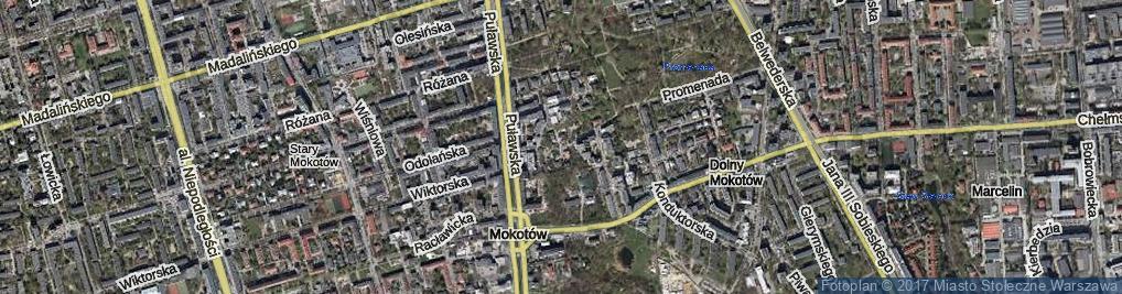 Zdjęcie satelitarne Boryszewska ul.