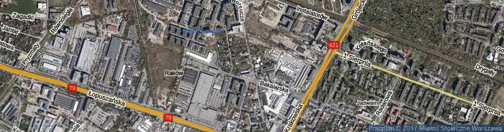 Zdjęcie satelitarne Borsucza ul.