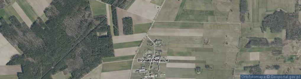 Zdjęcie satelitarne Bronaki-Pietrasze ul.