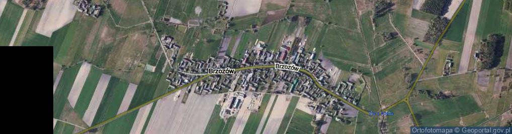 Zdjęcie satelitarne Brzozów ul.