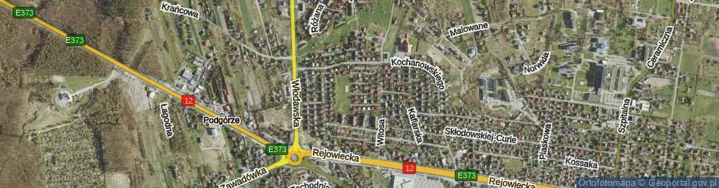 Zdjęcie satelitarne Bratkowa ul.