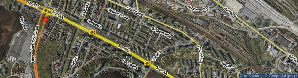 Zdjęcie satelitarne Brodnicka ul.