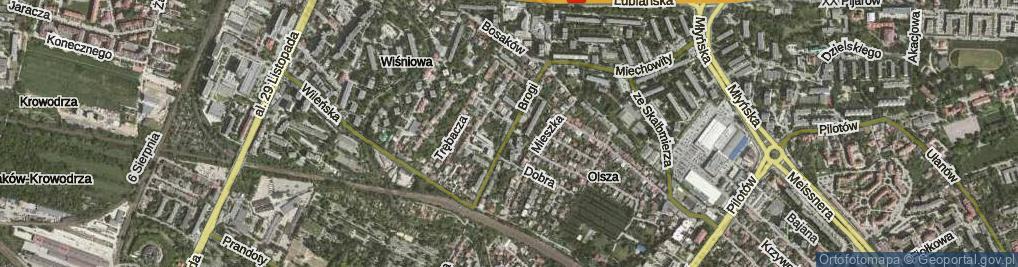 Zdjęcie satelitarne Brogi ul.