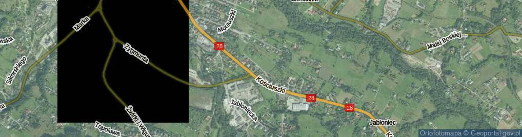 Zdjęcie satelitarne Brożka Maksymiliana ul.