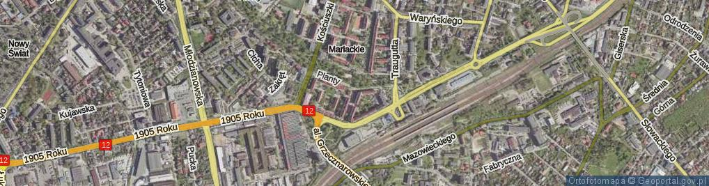 Zdjęcie satelitarne Broni ul.