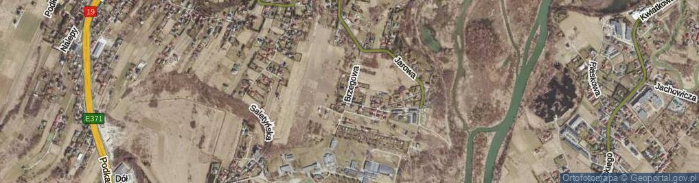 Zdjęcie satelitarne Brzegowa ul.