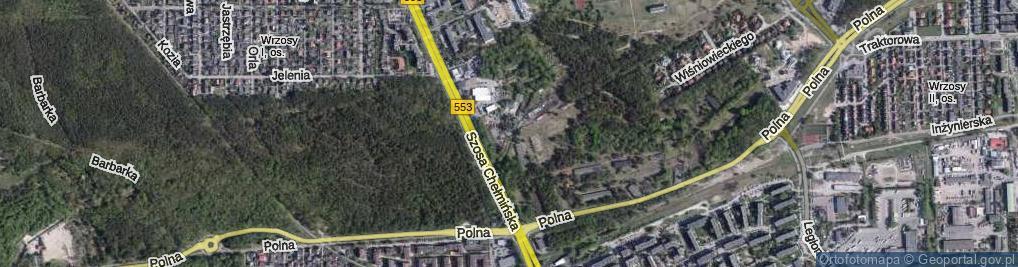 Zdjęcie satelitarne Bractwa Kurkowego ul.