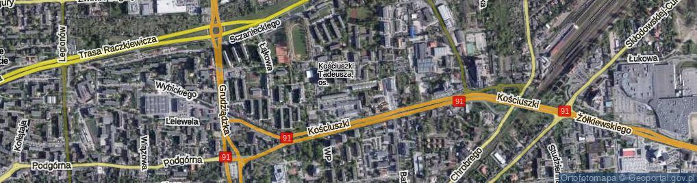 Zdjęcie satelitarne Brejskiego Jana ul.