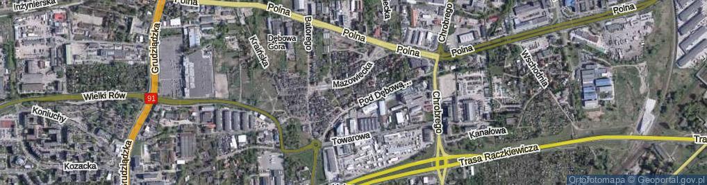 Zdjęcie satelitarne Brody Jana, inż. ul.