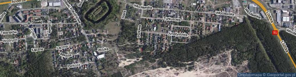 Zdjęcie satelitarne Brylantowa ul.