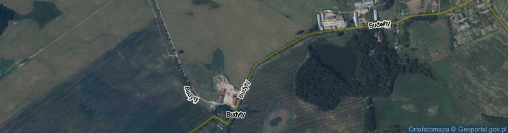 Zdjęcie satelitarne Budyty ul.