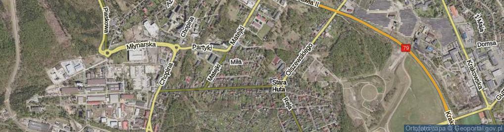 Zdjęcie satelitarne Budryka Witolda ul.