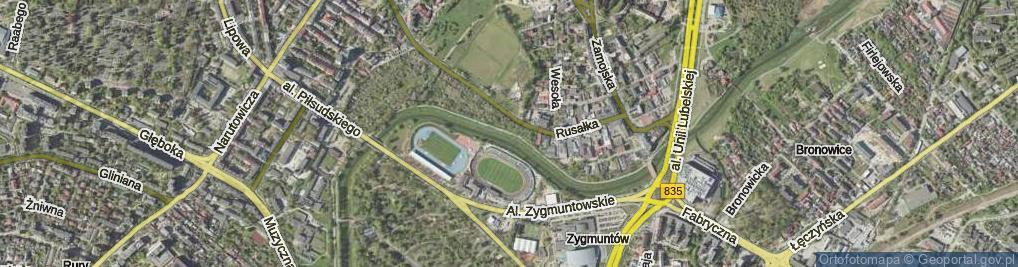 Zdjęcie satelitarne Bulwar Zalewskiego Stanisława ul.