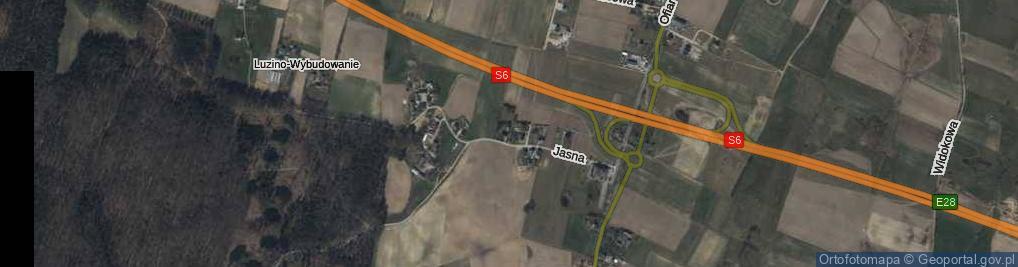 Zdjęcie satelitarne Bursztynowa ul.