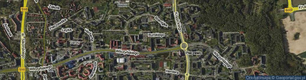 Zdjęcie satelitarne Burskiego Jerzego ul.