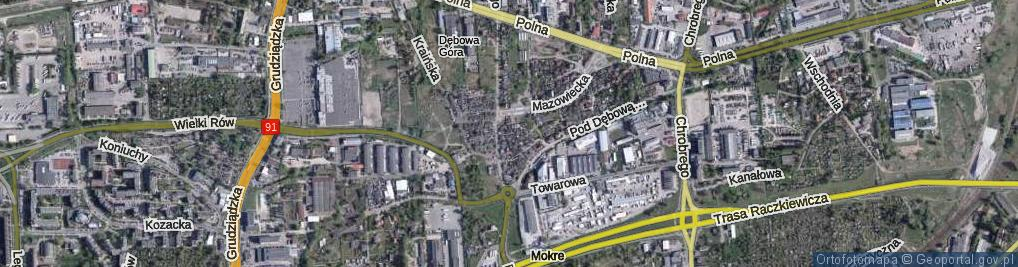 Zdjęcie satelitarne Bukiewicz Wandy ul.