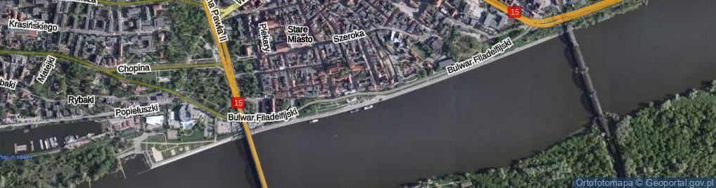 Zdjęcie satelitarne Bulwar Filadelfijski ul.