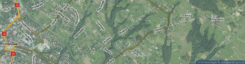 Zdjęcie satelitarne Bystra ul.