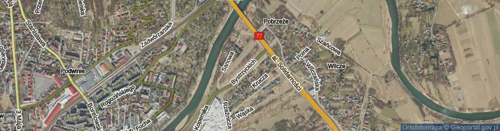 Zdjęcie satelitarne Bystrzyckich ul.
