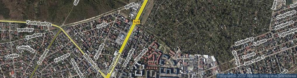 Zdjęcie satelitarne Byszewska ul.