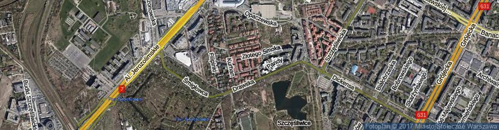 Zdjęcie satelitarne Cesarskiej Korony ul.