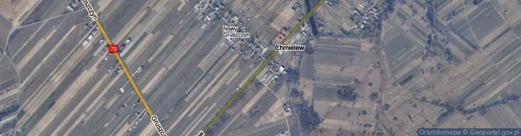 Zdjęcie satelitarne Chmielew ul.