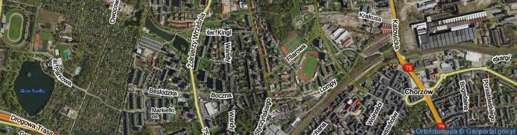 Zdjęcie satelitarne Chałupki ul.