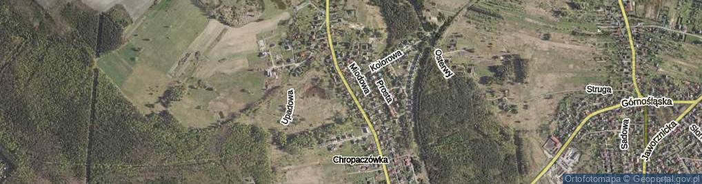 Zdjęcie satelitarne Chropaczówka ul.