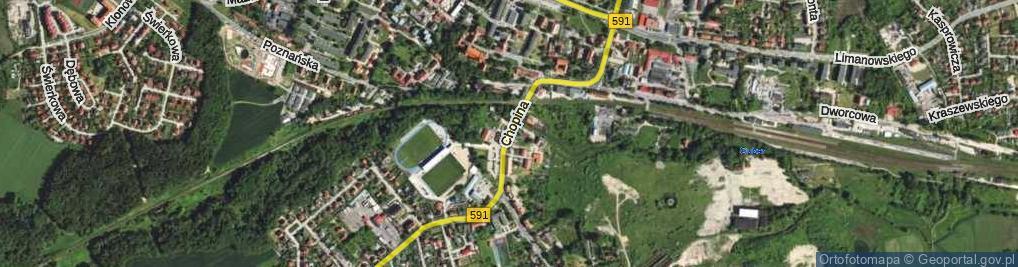 Zdjęcie satelitarne Chopina Fryderyka ul.
