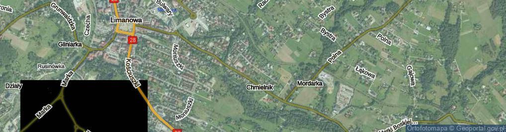 Zdjęcie satelitarne Chmielnik ul.