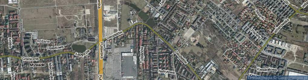 Zdjęcie satelitarne Chabrów ul.