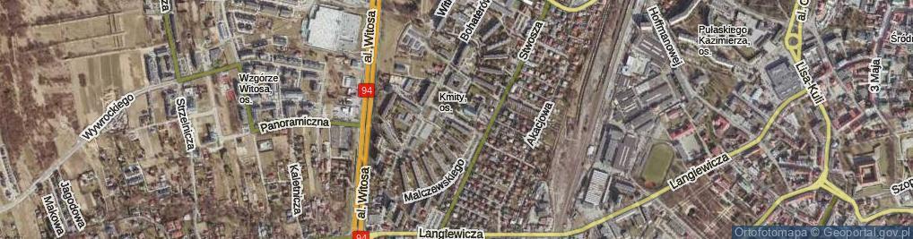 Zdjęcie satelitarne Chruściela Antoniego, gen. ul.
