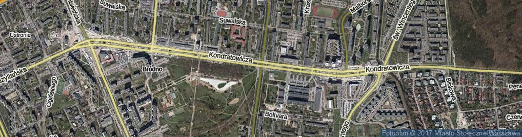 Zdjęcie satelitarne Chodecka ul.