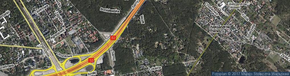 Zdjęcie satelitarne Chryzantemy ul.