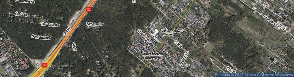Zdjęcie satelitarne Choinkowa ul.