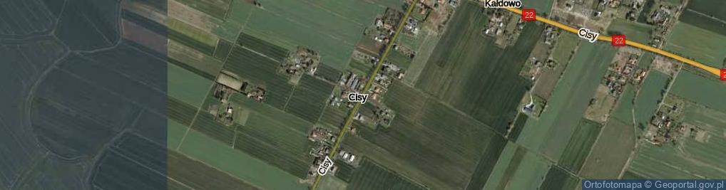 Zdjęcie satelitarne Cisy ul.
