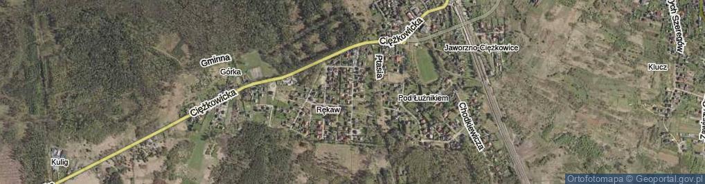 Zdjęcie satelitarne Cichy Kącik ul.