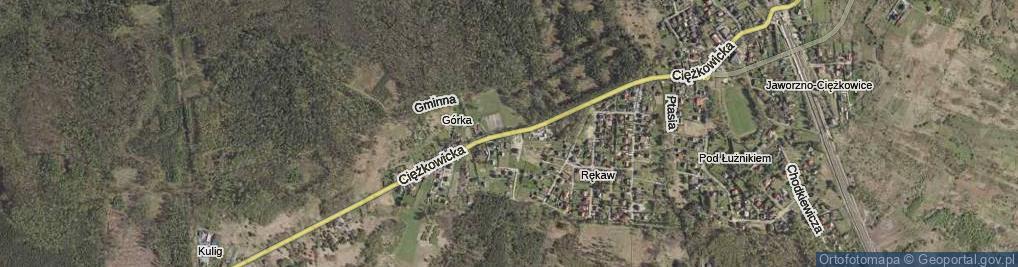 Zdjęcie satelitarne Ciężkowicka ul.