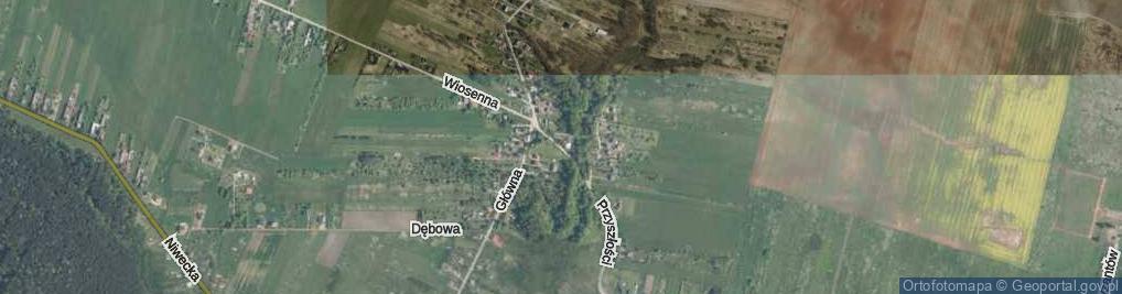 Zdjęcie satelitarne Ciemna ul.
