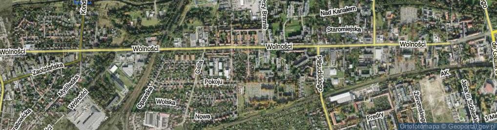 Zdjęcie satelitarne Ciupki Józefa ul.