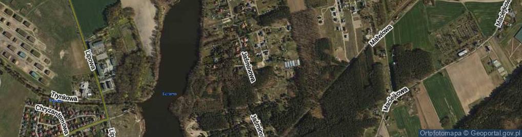 Zdjęcie satelitarne Cyniowa ul.