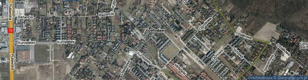Zdjęcie satelitarne Cynamonowa ul.