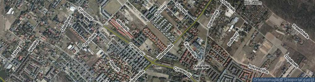 Zdjęcie satelitarne Cytrusowa ul.