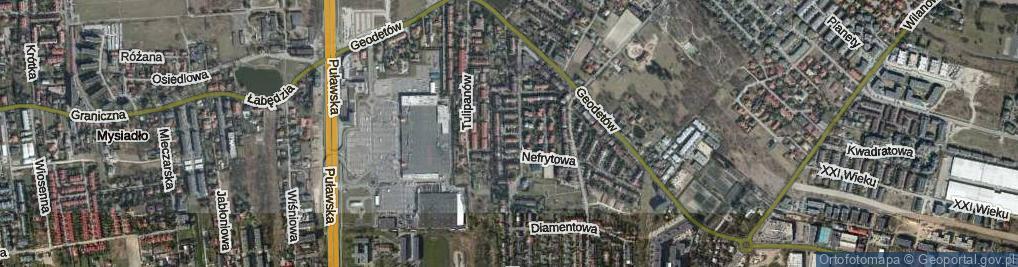 Zdjęcie satelitarne Cyrkonii ul.