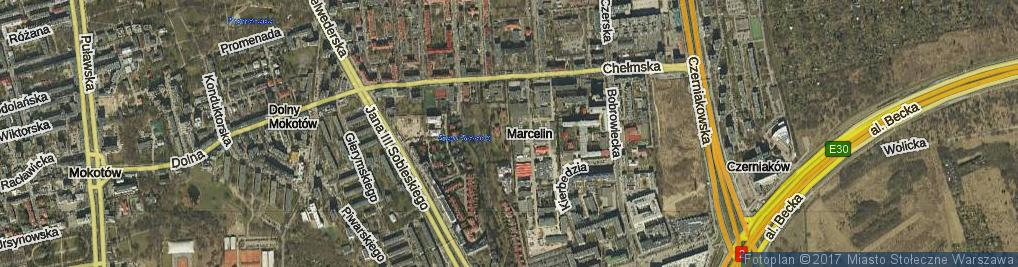 Zdjęcie satelitarne Cybulskiego Zbyszka ul.